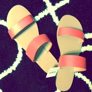 NWT orange JCrew slides-hot for summer!!