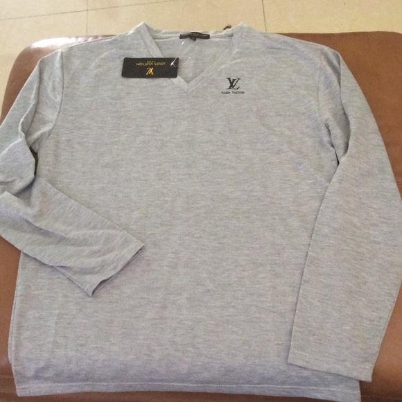 5b5e0c470cf Louis vuitton shirt sweater men XL new perfect
