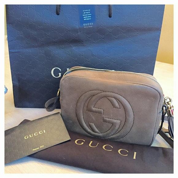 6c7f36b92988cb Gucci soho nubuck disco bag
