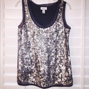 Ann Taylor Loft Sequined Tank