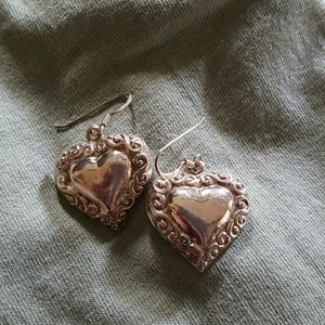 Jewelry - Sterling silver heart earrings
