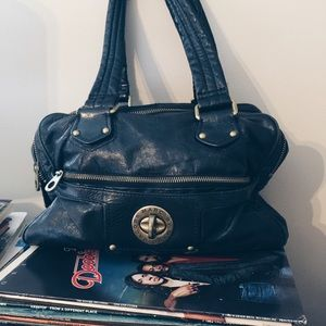 Marc by Marc Jacobs dark blue leather shoulder bag