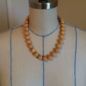 Jewelry - Peach colored ball strand necklace