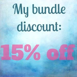 15% off two items or more with the bundle feature!