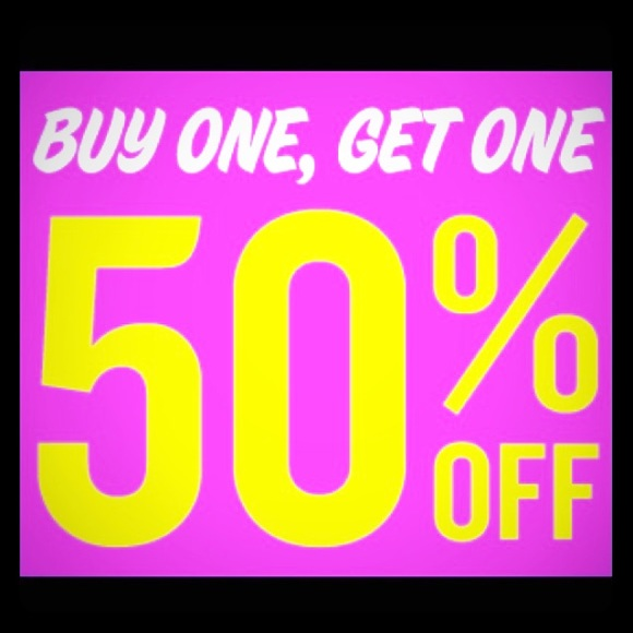 Buy One Get One: Buy One Get One 50 Off