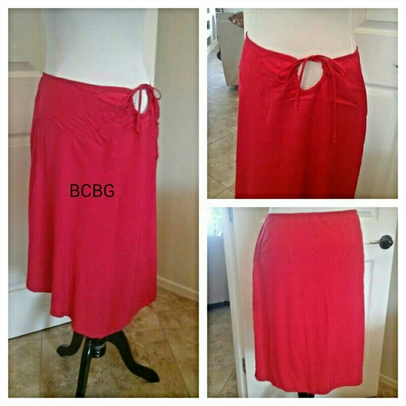 Bcbg Silk Skirt 119