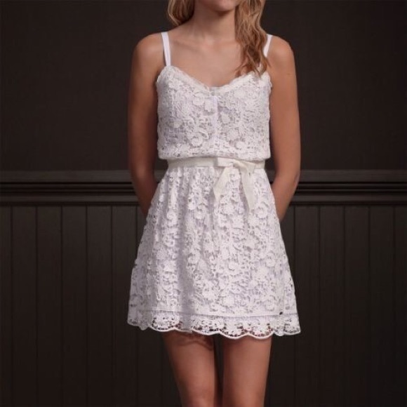 hollister beautiful white lace dress from marions
