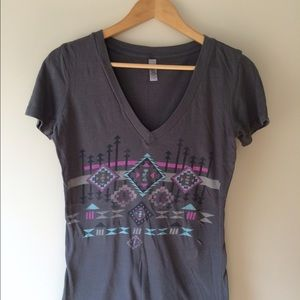 40 off next level apparel tops burn out tank from maura for Ithaca t shirt printing