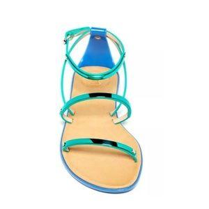 French Connection Aqua Metallic Sandal