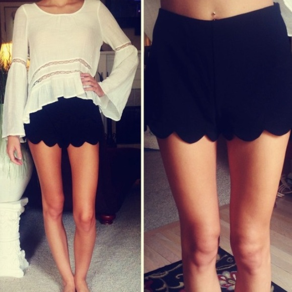 67% off Monteau Pants - HIGH WAISTED SCALLOPED SHORTS from Emily's ...