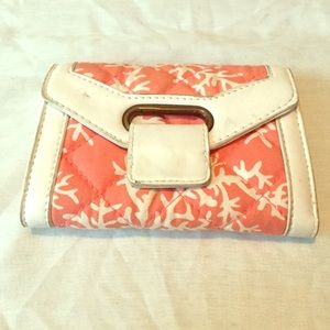 Quilted Coral LuLu Wallet 