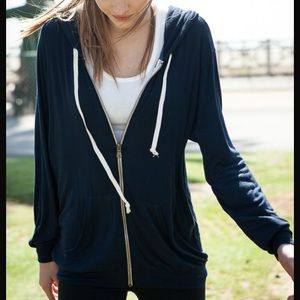 Brandy Melville black Christina hoodie jacket
