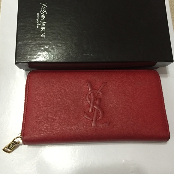 b6a975014a0 Saint Laurent Bags | Authentic Ysl Wallet In Rouge Orient | Poshmark