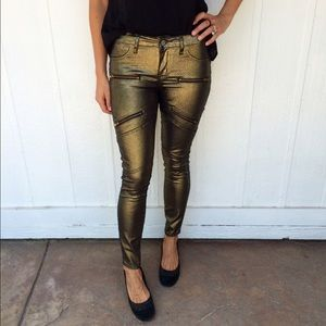 NEW gold jeggings