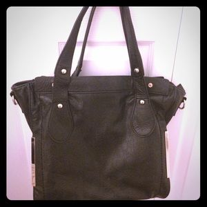 Black justfab tote/purse