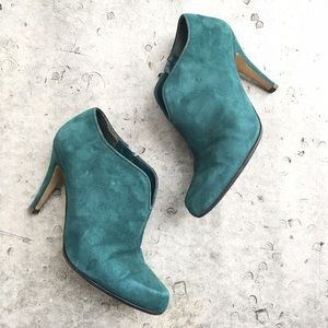 Nine West Teal Laffitter Booties