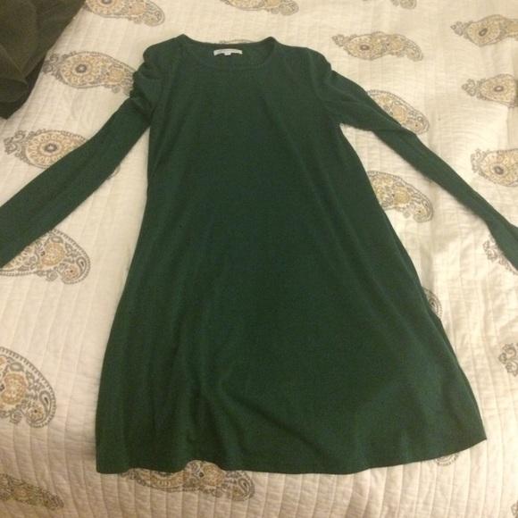 8000d1388011 Dark green long sleeve cotton dress. M 559b26ca8ae9406950016317