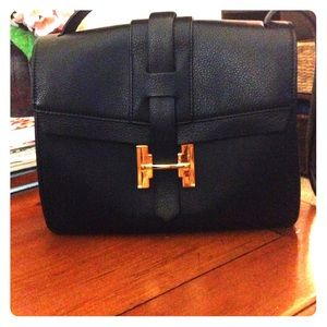 Genuine Halston leather bag