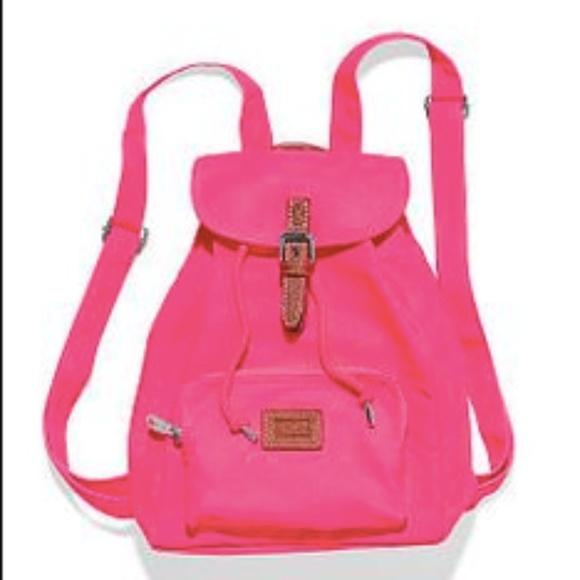 45% off Victoria's Secret Handbags - Super cute neon pink VS pink ...