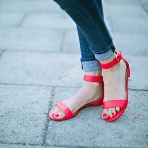 J. Crew Shoes - J. Crew Red Strap Sandals