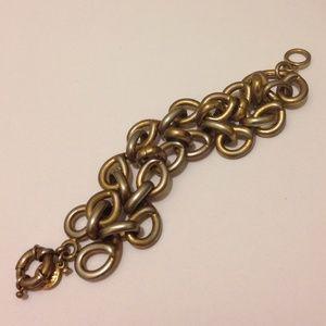 J.Crew Brass Chain Link Bracelet