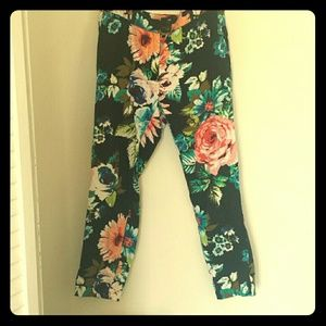 Bright Floral cropped ankle pant H&M