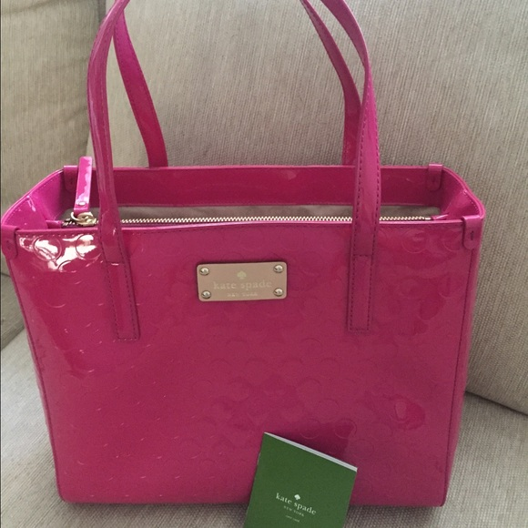 74% off kate spade Handbags - Kate Spade Pink Patent Leather Quinn ...