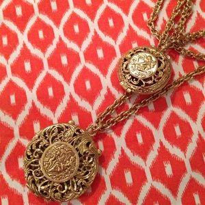Gold locket vintage necklace