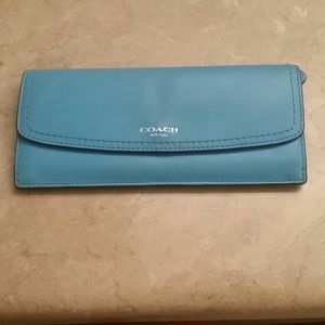 Coach Slim Wallet In Robbins Egg