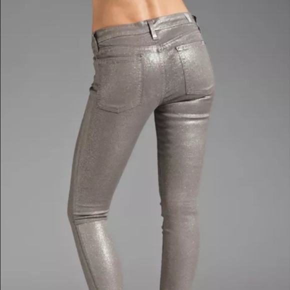 ac17e15b 7 for all Mankind Pants | The Skinny Glitter Jeans 25 | Poshmark