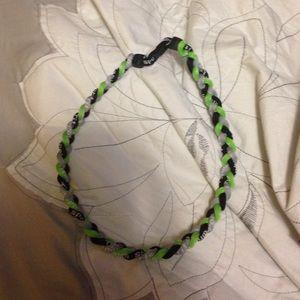 titanium Accessories - Green Grey and Black Titanium Necklace
