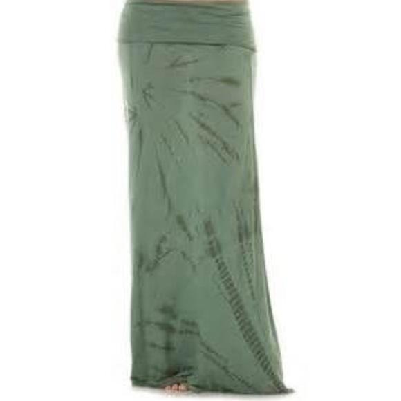 90 billabong dresses skirts tie dye foldover maxi