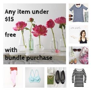 Items Under $15 Are Free w/ a Bundle Purchase!! 💕