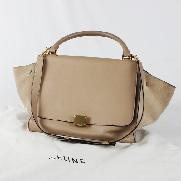 Celine Handbags - Authentic Nude Sahara Celine Trapeze Satchel Bag 461ba2e23887f