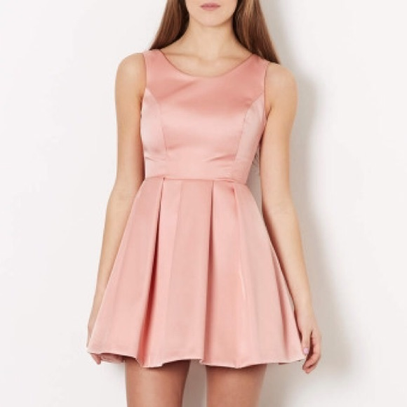 ASOS Dresses | Topshop Pink Duchess Satin Bow Back Prom Dress | Poshmark