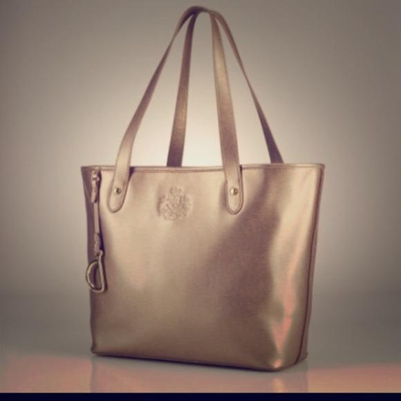 ce1ef00f00 Ralph Lauren Gold Tote Oxblood satchel bundle. M 559bcd412b995678ff018df4