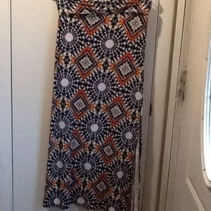 Charlotte Russe fold over maxi skirt
