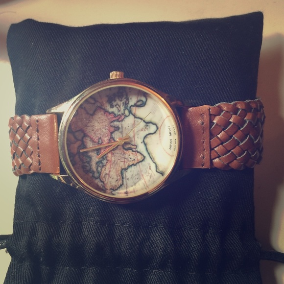 Japan movt accessories watch geneva braided world map poshmark japan movt watch geneva braided world map gumiabroncs
