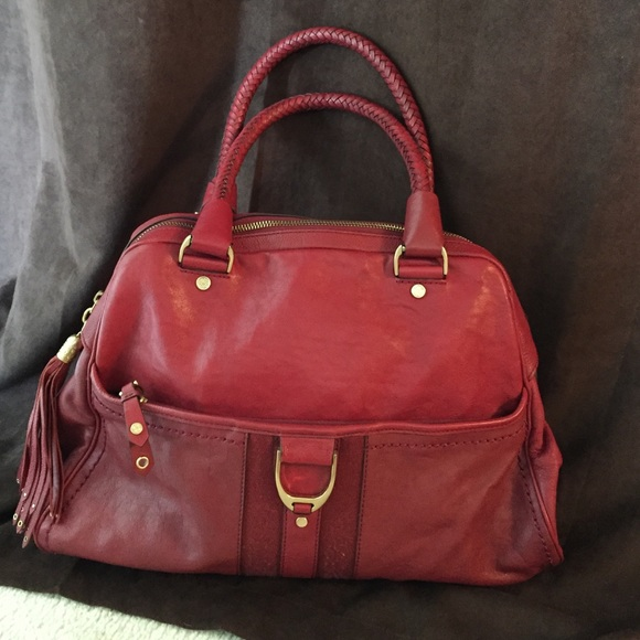 1588060d36 Cole Haan Bags | Beautiful Cranberry Red Leather Purse | Poshmark