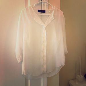 Tops - White Sheer Blouse