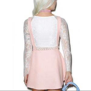 e21c8526a2a Dollskill Dresses - Dollskill pinafore dress with hologram heart