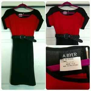 A. Byer Dresses & Skirts - Beautiful red and black color block dress!