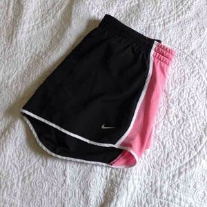 Black and pink nike dri-fit shorts