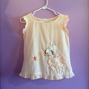 Vintage frilly embroidered top