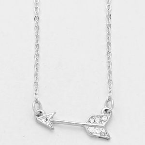 Silver Arrow Pendant Necklace