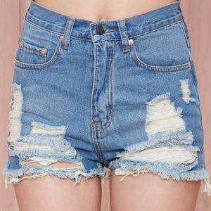 Nasty Gal cutoff shorts - never worn!