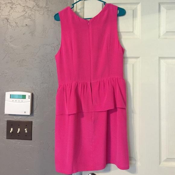 Dresses - Charlie Jade Pink Silk Peplum Dress