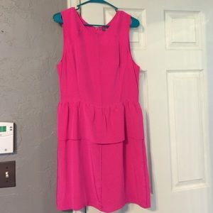 Dresses & Skirts - Charlie Jade Pink Silk Peplum Dress