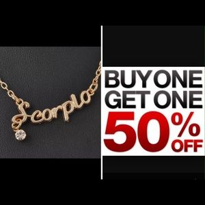 Jewelry - Scorpio necklace gold boho Jewelry bogo or offers