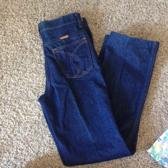 54 off wrangler denim vintage high waisted us made wrangler jeans from monica 39 s closet on. Black Bedroom Furniture Sets. Home Design Ideas